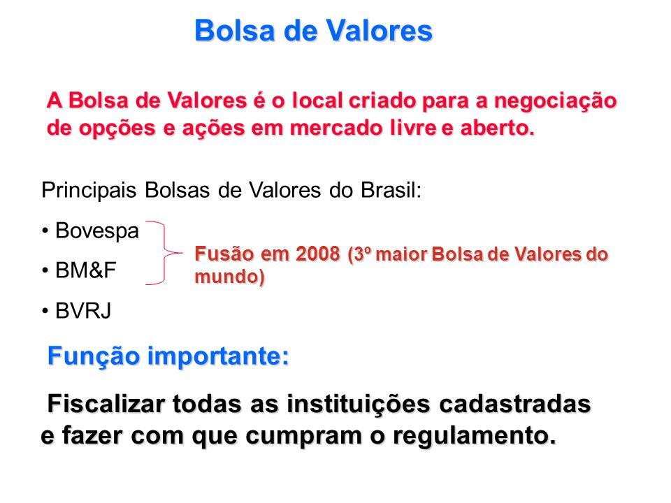 Bolsa de Valores Função importante: