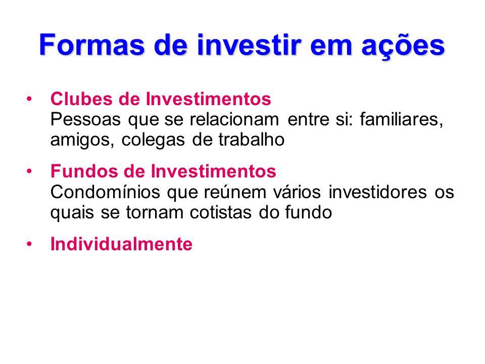 Formas de investir em ações