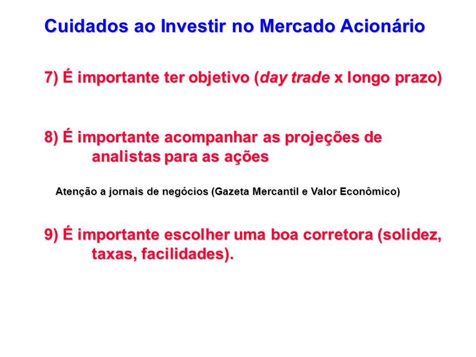 Cuidados ao Investir no Mercado Acionário