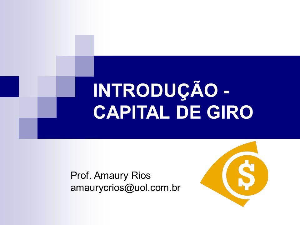 INTRODUÇÃO - CAPITAL DE GIRO
