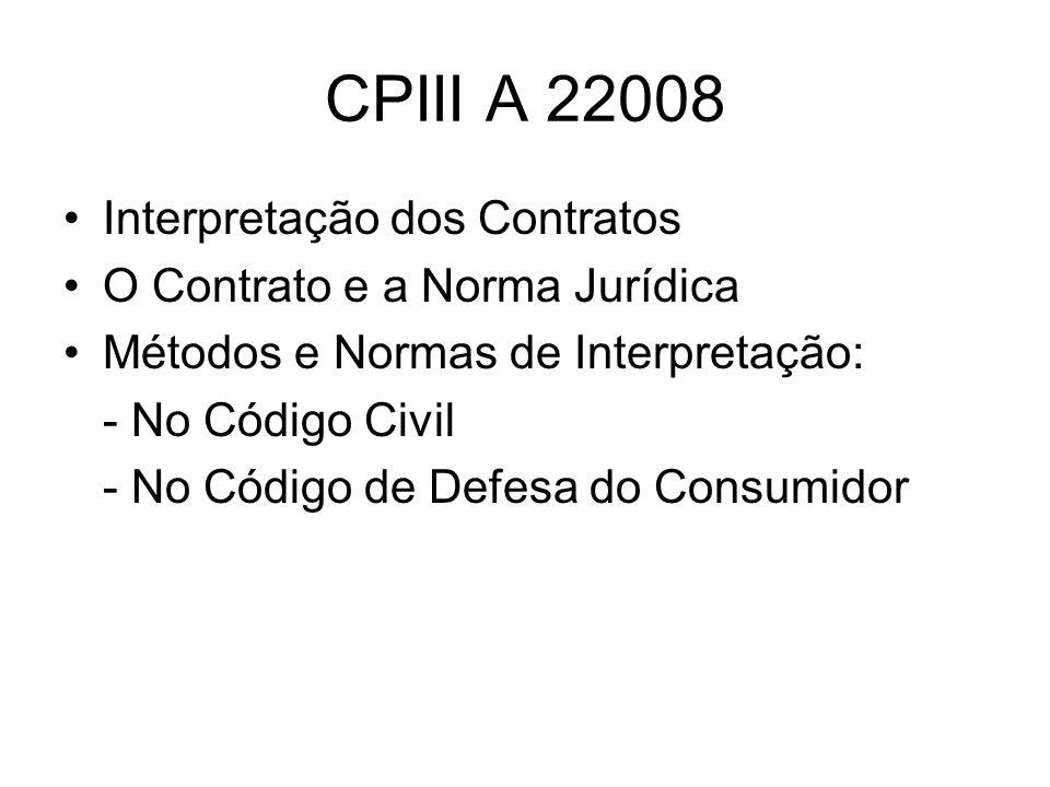 CPIII A 22008 Interpretação dos Contratos