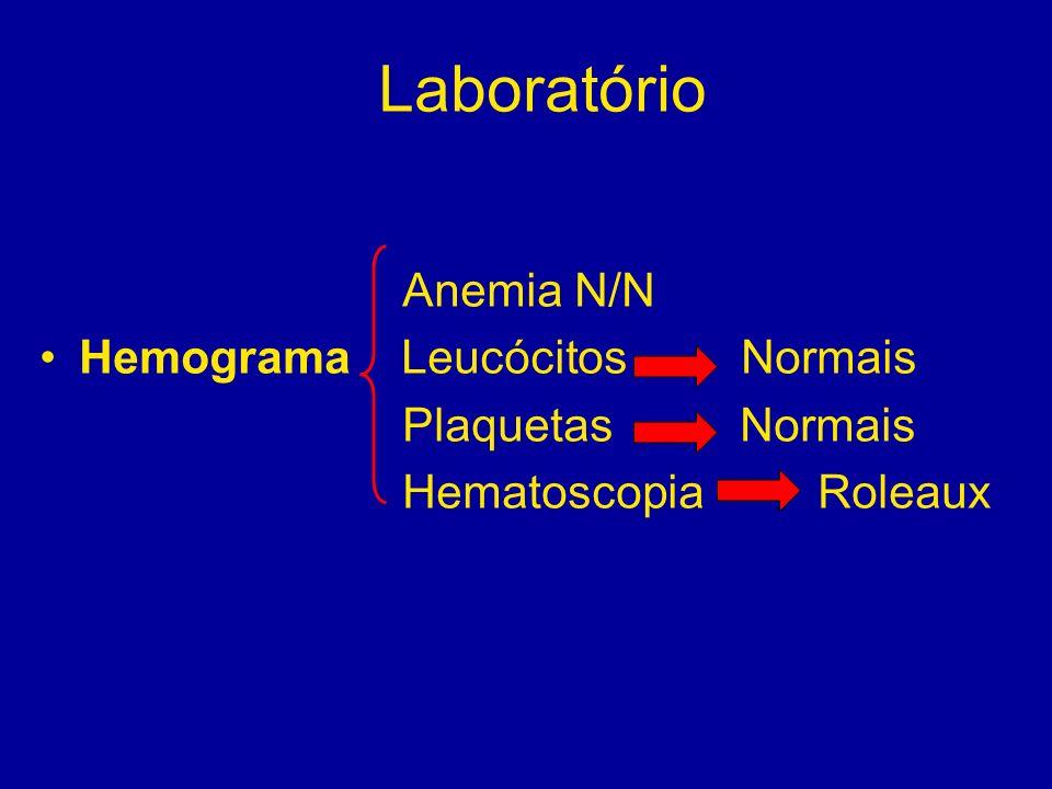 Laboratório Anemia N/N Hemograma Leucócitos Normais Plaquetas Normais