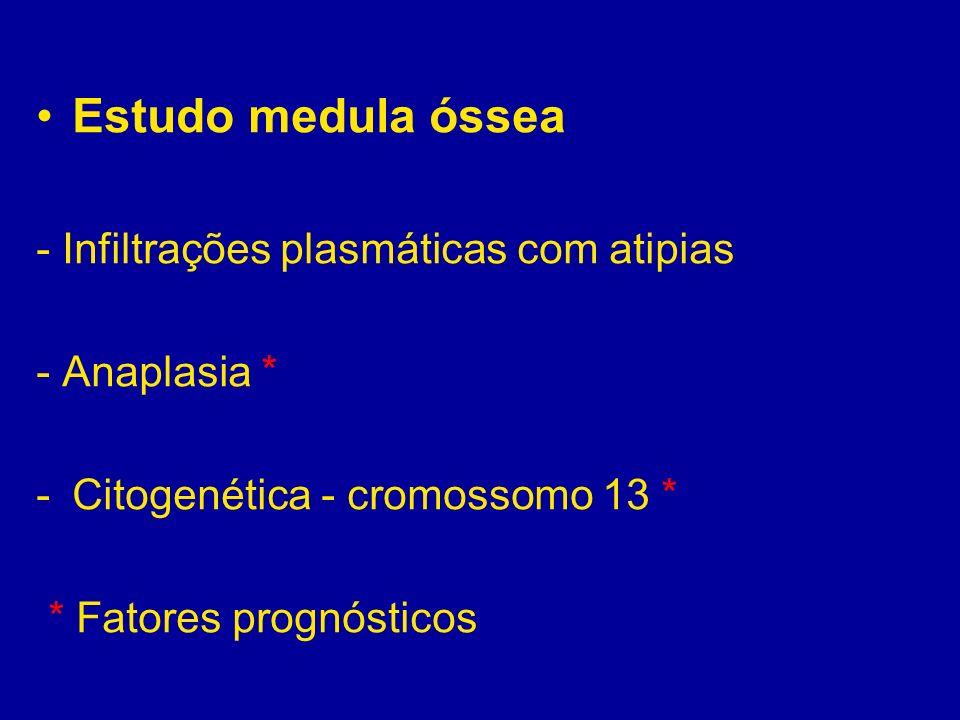 Estudo medula óssea - Infiltrações plasmáticas com atipias