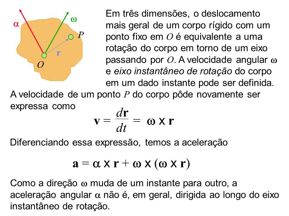 dr v = = w x r dt a = a x r + w x (w x r)