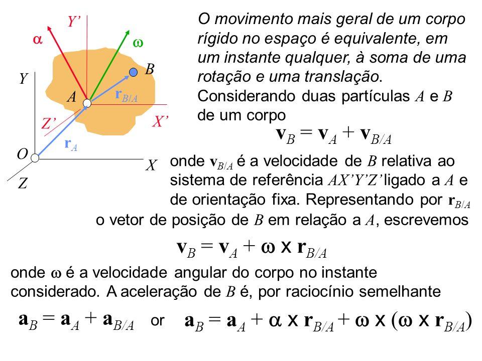 aB = aA + a x rB/A + w x (w x rB/A)