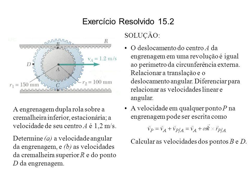 Exercício Resolvido 15.2 SOLUÇÃO: