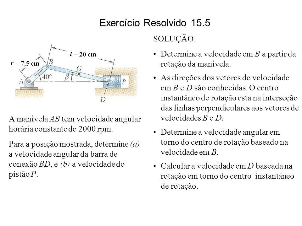 Exercício Resolvido 15.5 SOLUÇÃO: