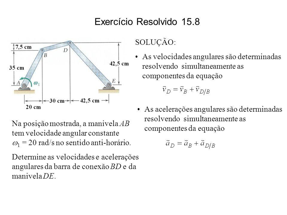 Exercício Resolvido 15.8 SOLUÇÃO: