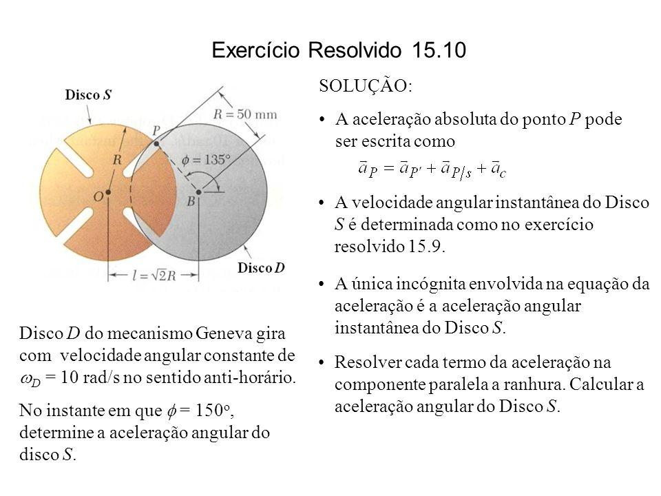 Exercício Resolvido 15.10 SOLUÇÃO: