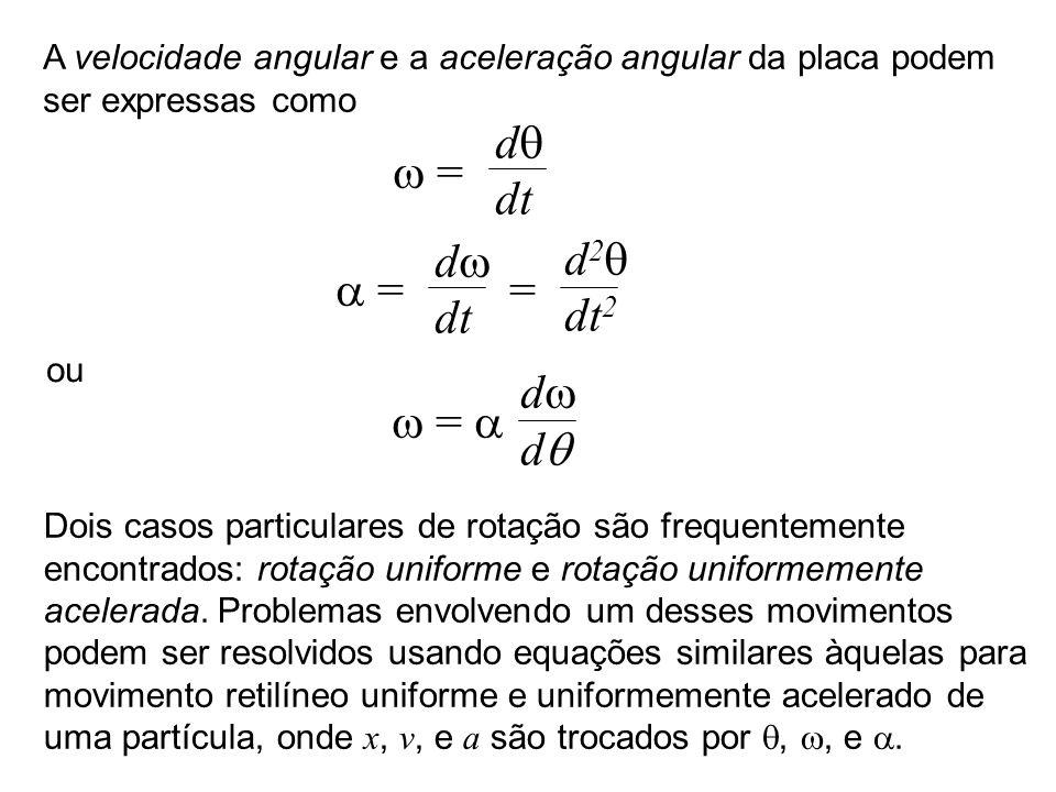 dq w = dt dw d2q a = = dt dt2 dw w = a dq