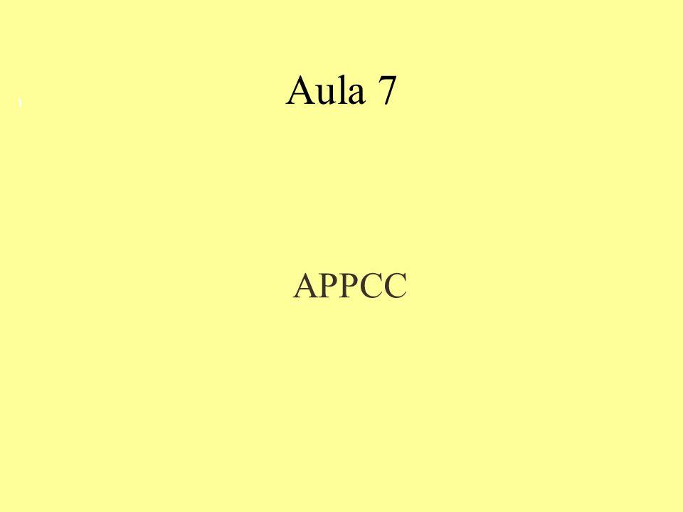 Aula 7 1 APPCC