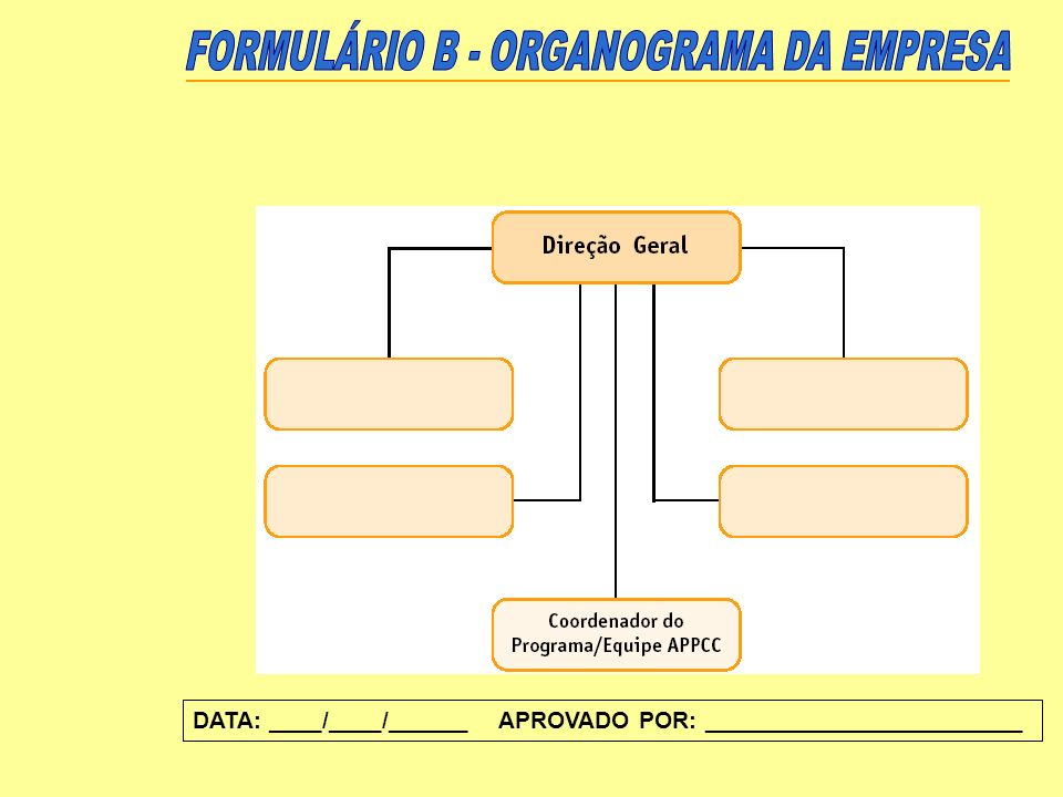 FORMULÁRIO B - ORGANOGRAMA DA EMPRESA