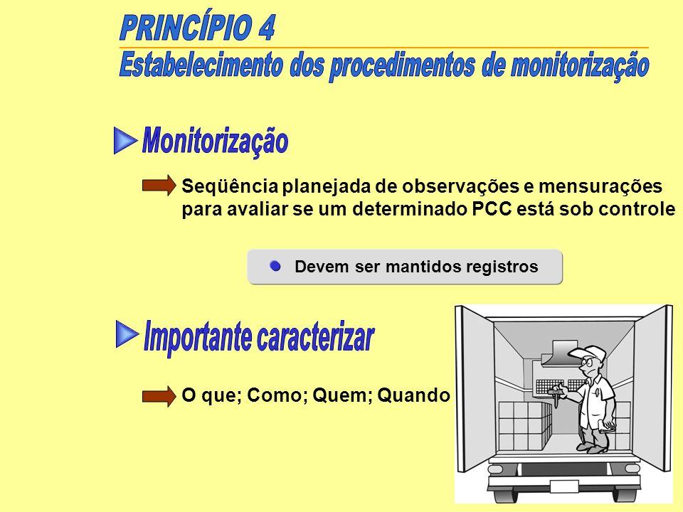 Estabelecimento dos procedimentos de monitorização