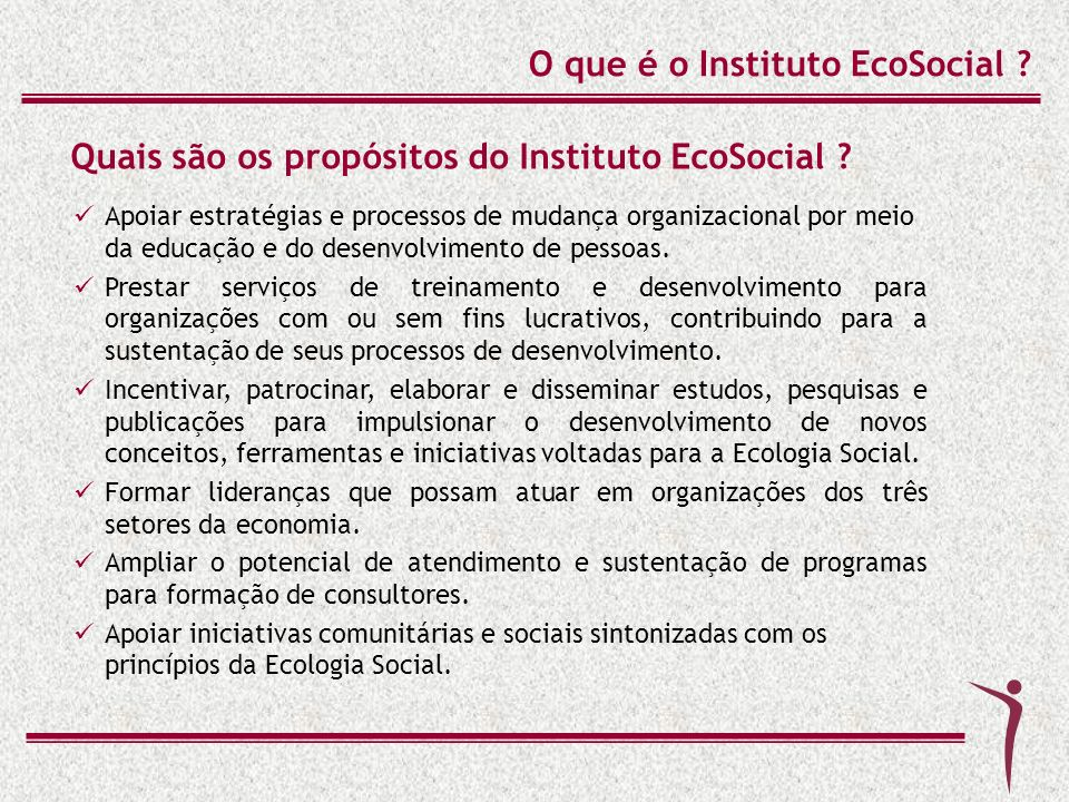 O que é o Instituto EcoSocial