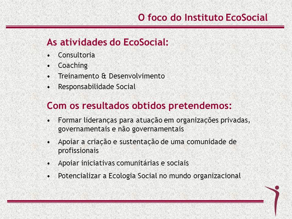 O foco do Instituto EcoSocial