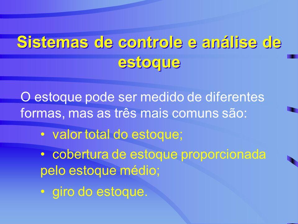 Sistemas de controle e análise de estoque