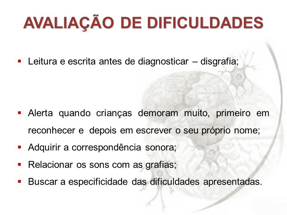 AVALIAÇÃO DE DIFICULDADES