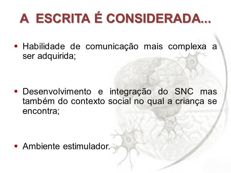A ESCRITA É CONSIDERADA...