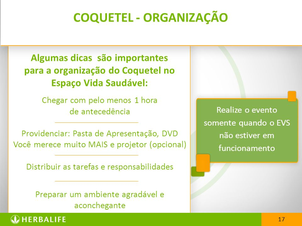 COQUETEL - ORGANIZAÇÃO