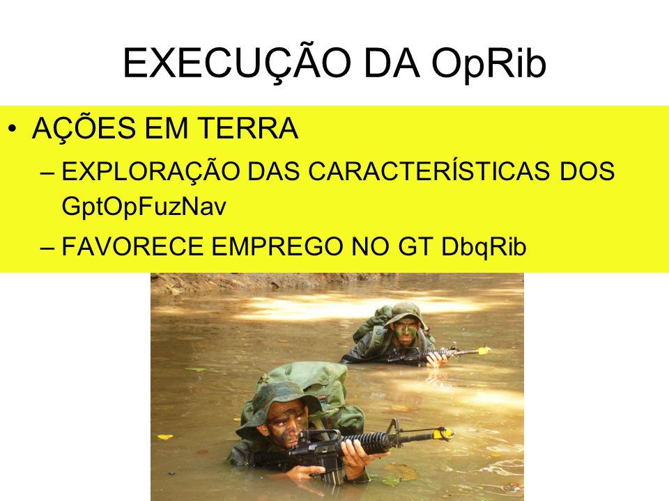 EXECUÇÃO DA OpRib AÇÕES EM TERRA