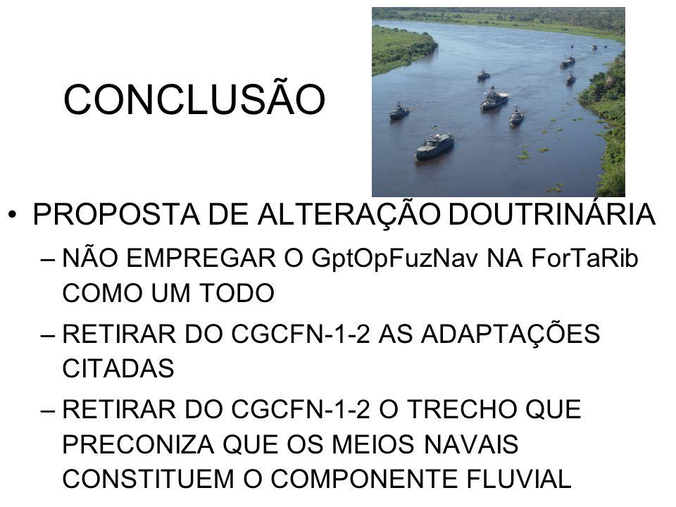 CONCLUSÃO PROPOSTA DE ALTERAÇÃO DOUTRINÁRIA