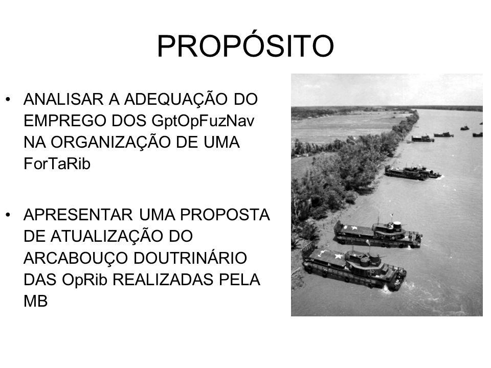 PROPÓSITO ANALISAR A ADEQUAÇÃO DO EMPREGO DOS GptOpFuzNav NA ORGANIZAÇÃO DE UMA ForTaRib.