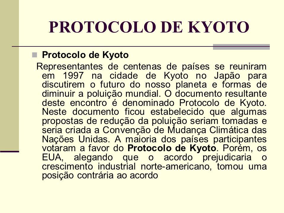 PROTOCOLO DE KYOTO Protocolo de Kyoto