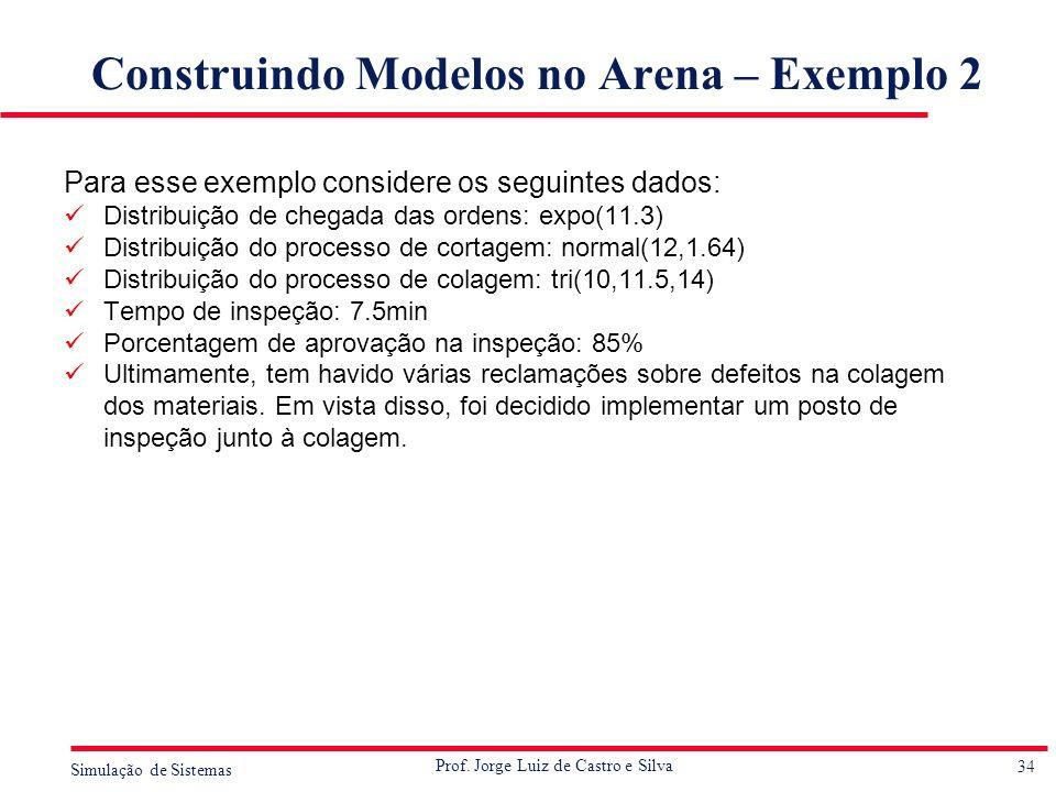 Construindo Modelos no Arena – Exemplo 2
