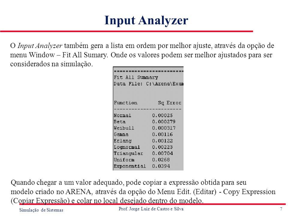 Input Analyzer