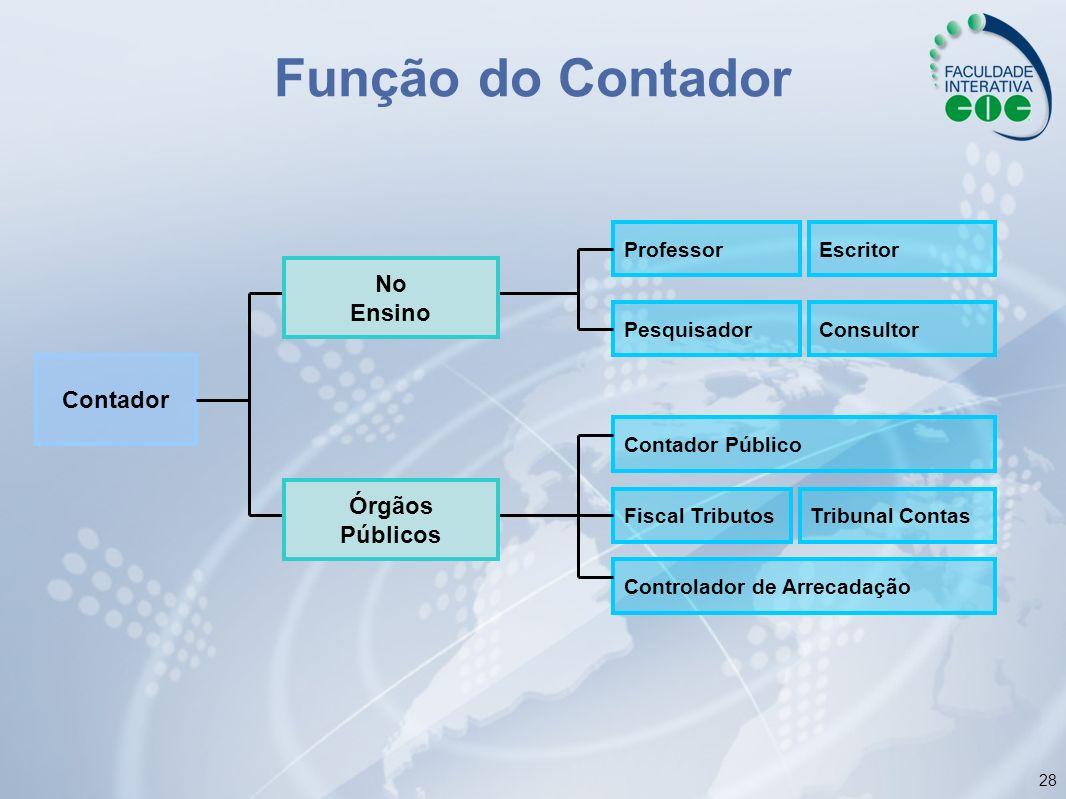 Função do Contador No Ensino Contador Órgãos Públicos Professor