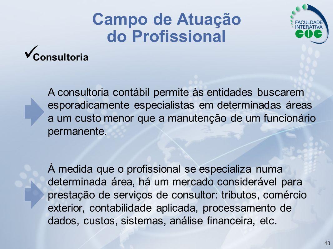 Campo de Atuação do Profissional