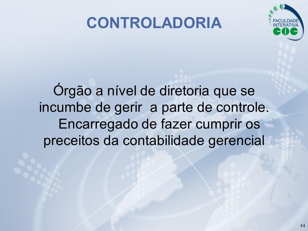 CONTROLADORIA Órgão a nível de diretoria que se