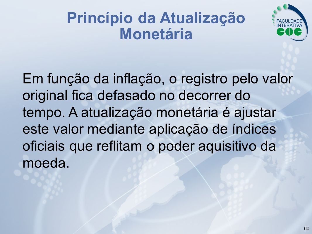 Princípio da Atualização Monetária