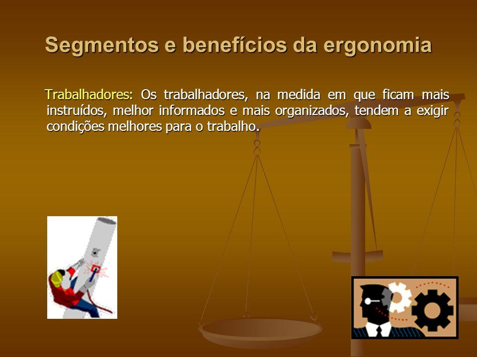 Segmentos e benefícios da ergonomia