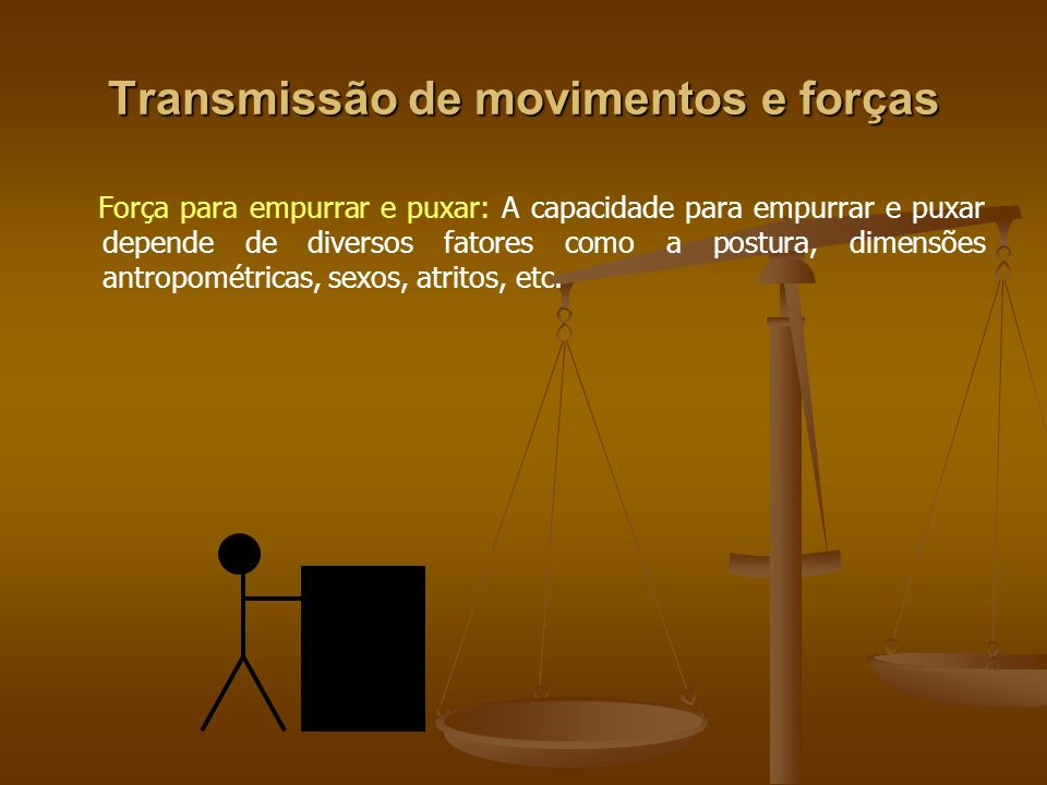 Transmissão de movimentos e forças