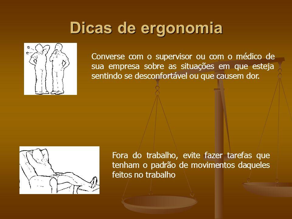 Dicas de ergonomia