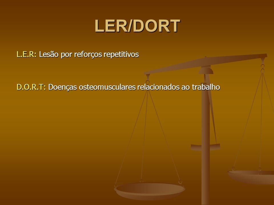 LER/DORT L.E.R: Lesão por reforços repetitivos