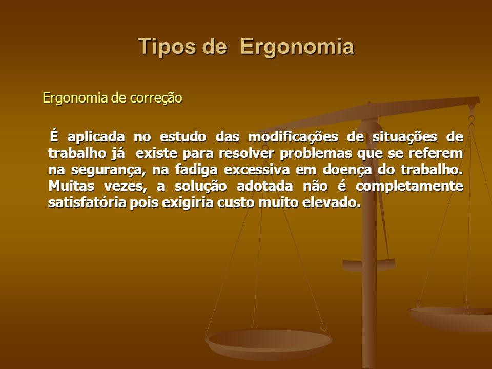 Tipos de Ergonomia Ergonomia de correção