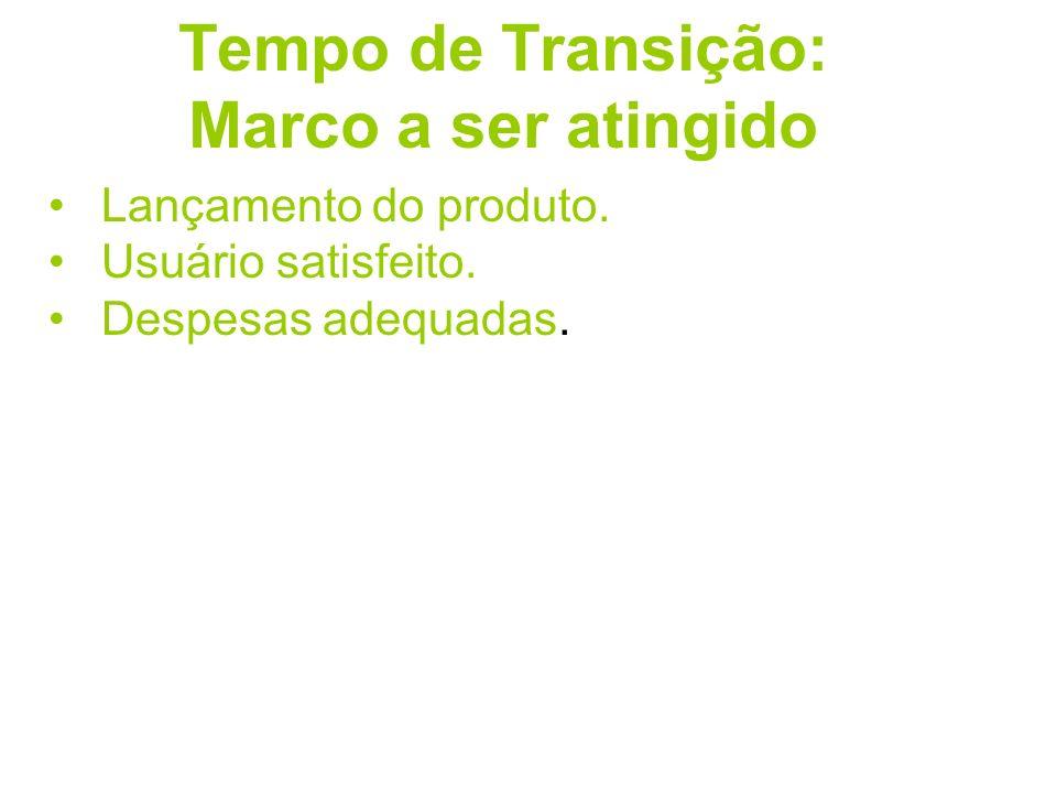 Tempo de Transição: Marco a ser atingido