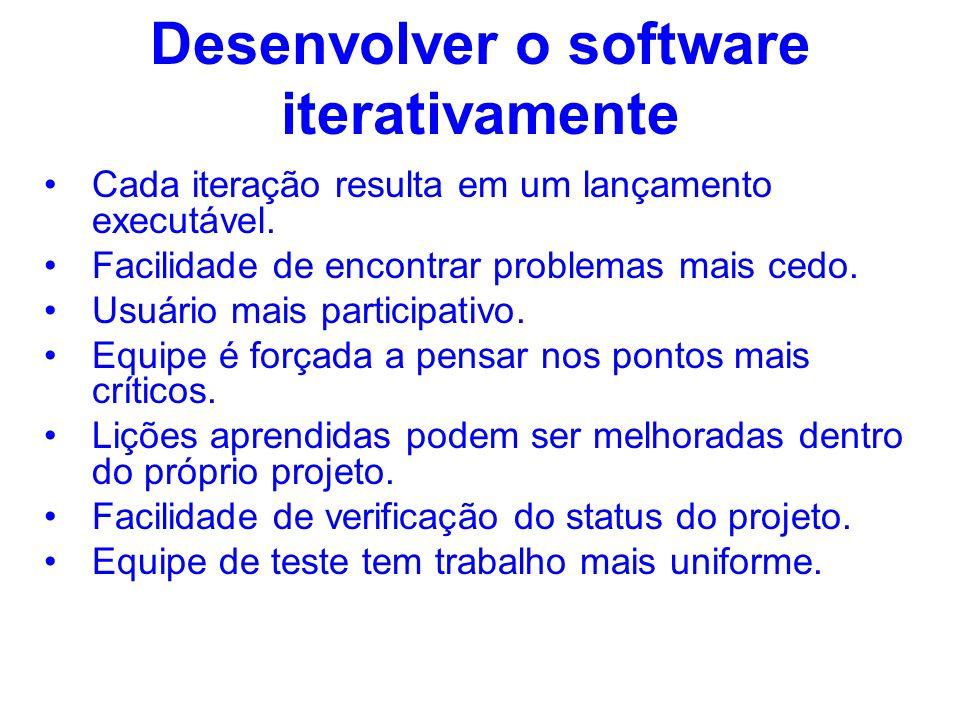 Desenvolver o software iterativamente