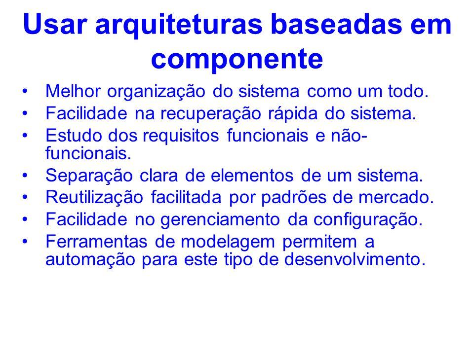Usar arquiteturas baseadas em componente