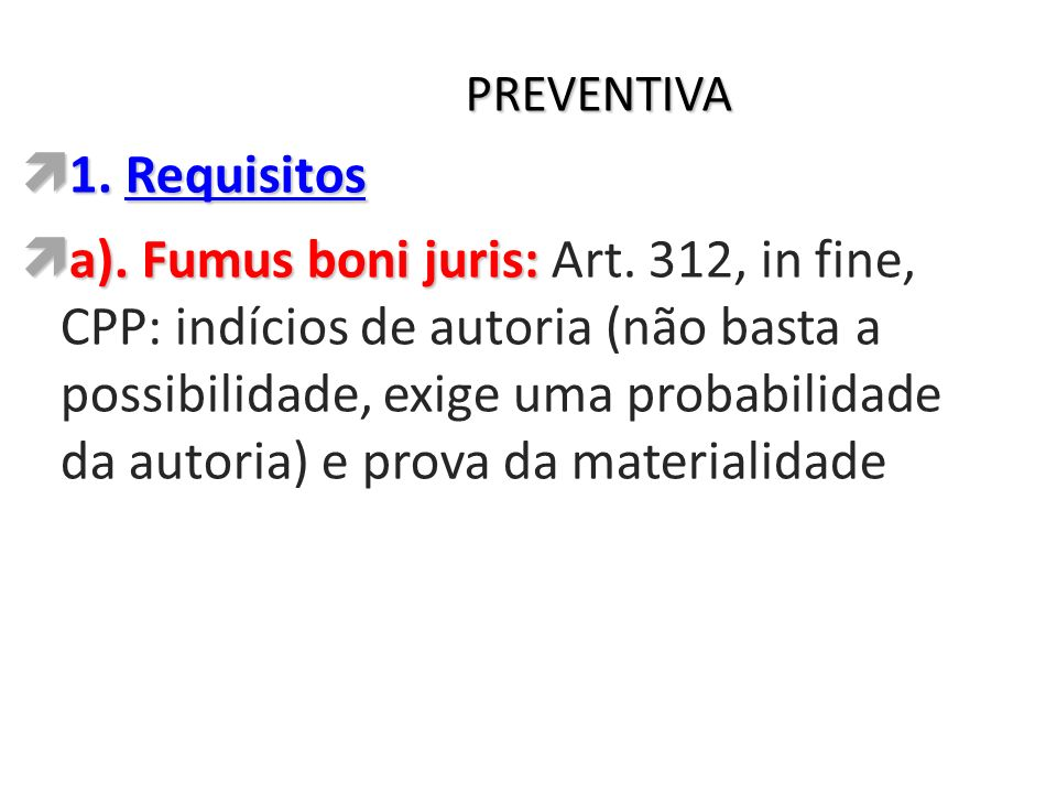 PREVENTIVA 1. Requisitos.