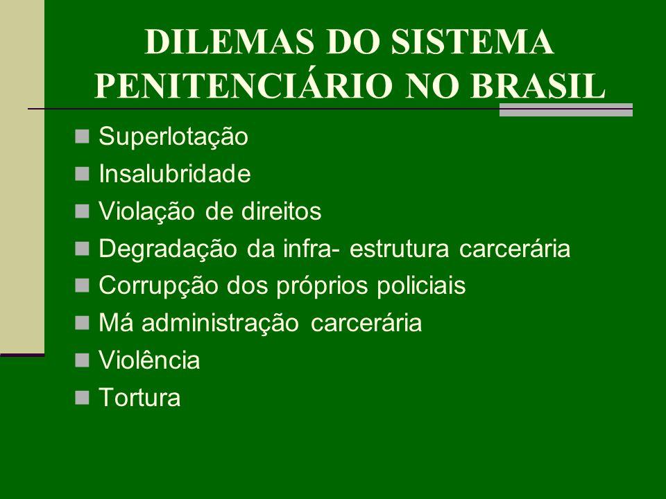 DILEMAS DO SISTEMA PENITENCIÁRIO NO BRASIL