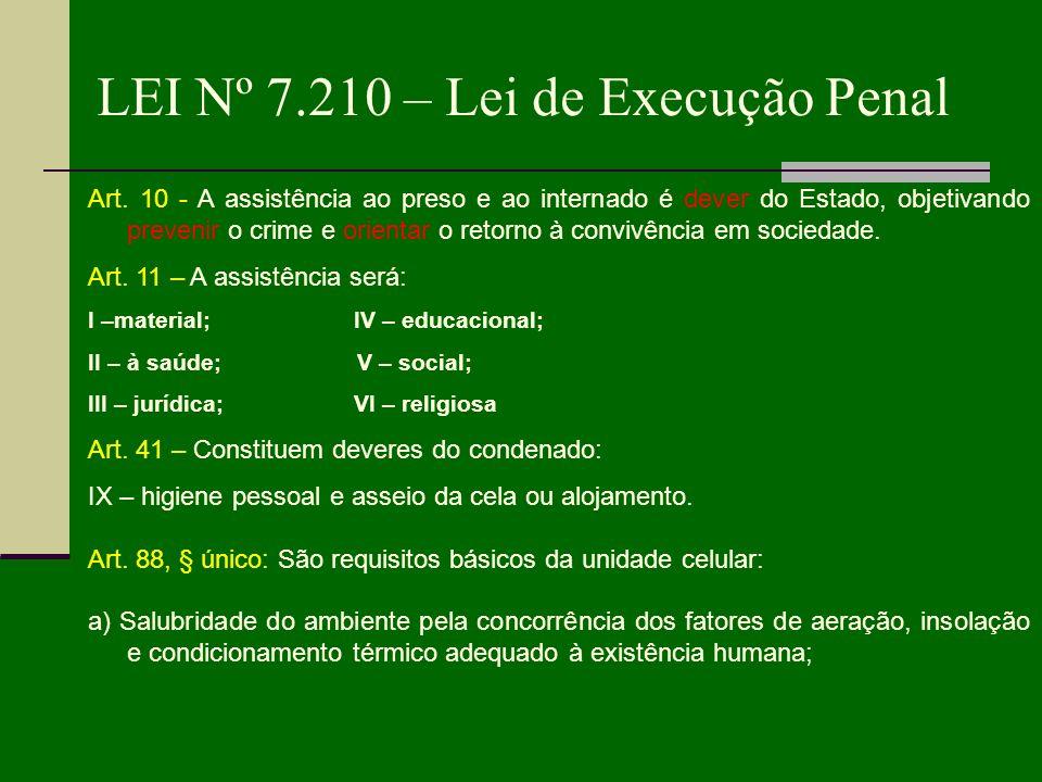 LEI Nº 7.210 – Lei de Execução Penal