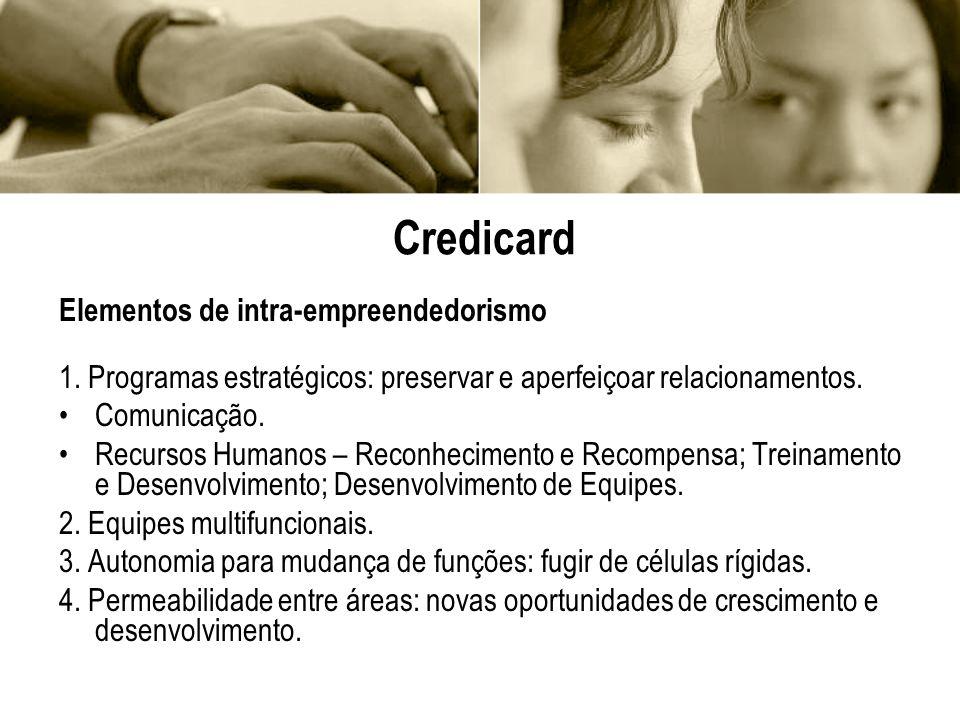 Credicard Elementos de intra-empreendedorismo