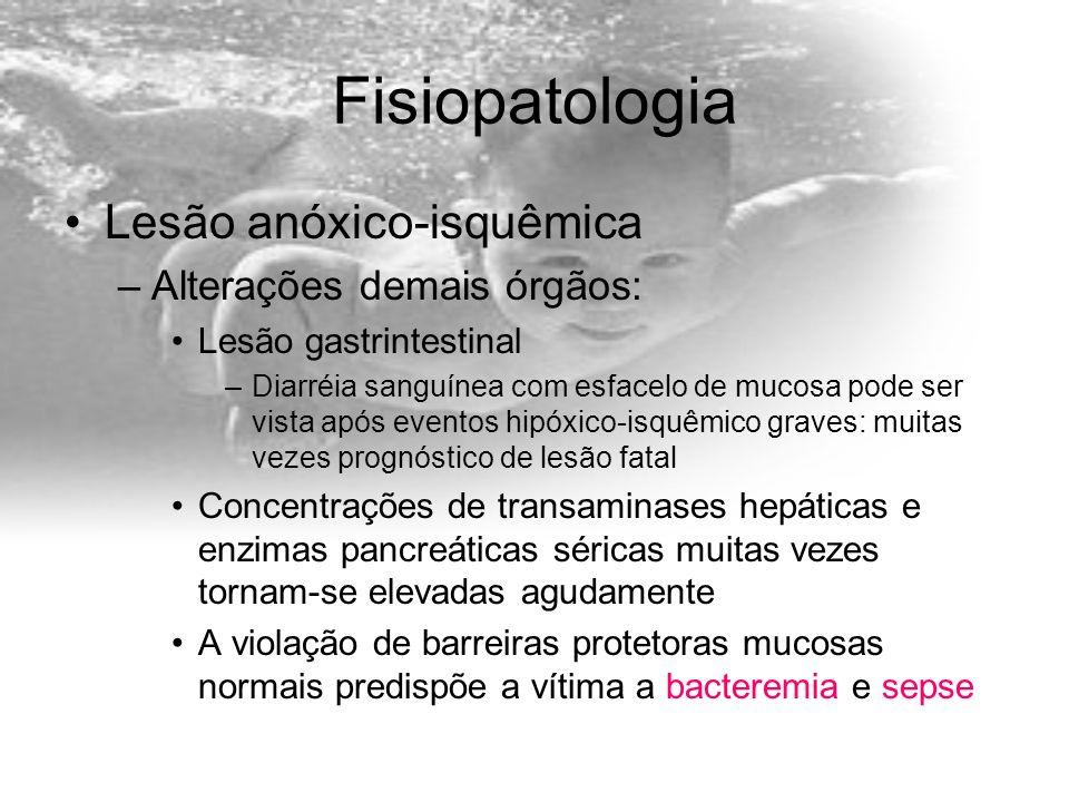 Fisiopatologia Lesão anóxico-isquêmica Alterações demais órgãos: