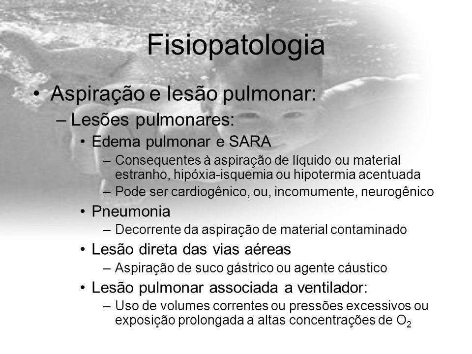 Fisiopatologia Aspiração e lesão pulmonar: Lesões pulmonares: