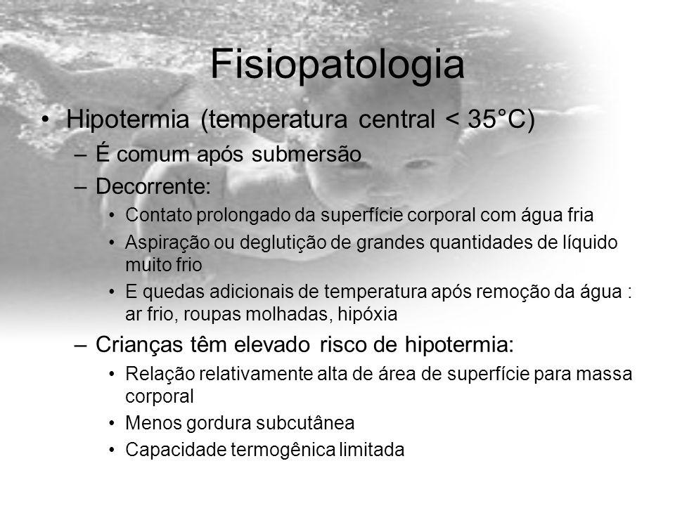 Fisiopatologia Hipotermia (temperatura central < 35°C)