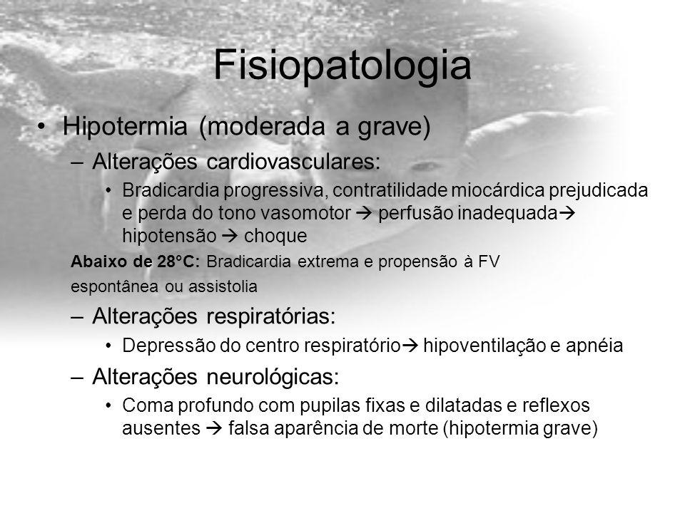Fisiopatologia Hipotermia (moderada a grave)