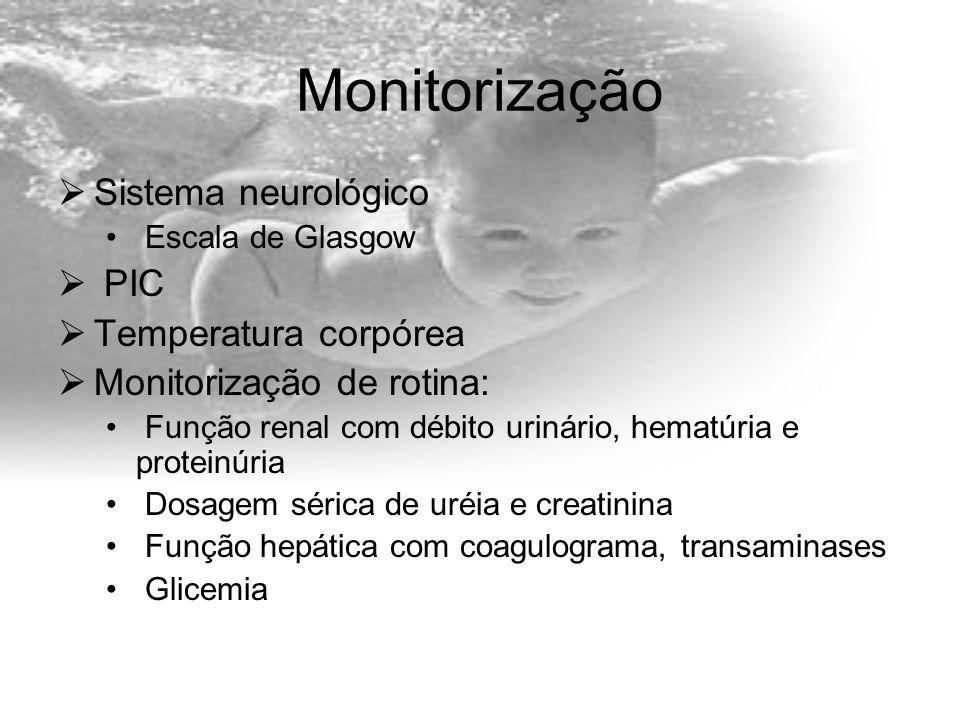 Monitorização Sistema neurológico PIC Temperatura corpórea